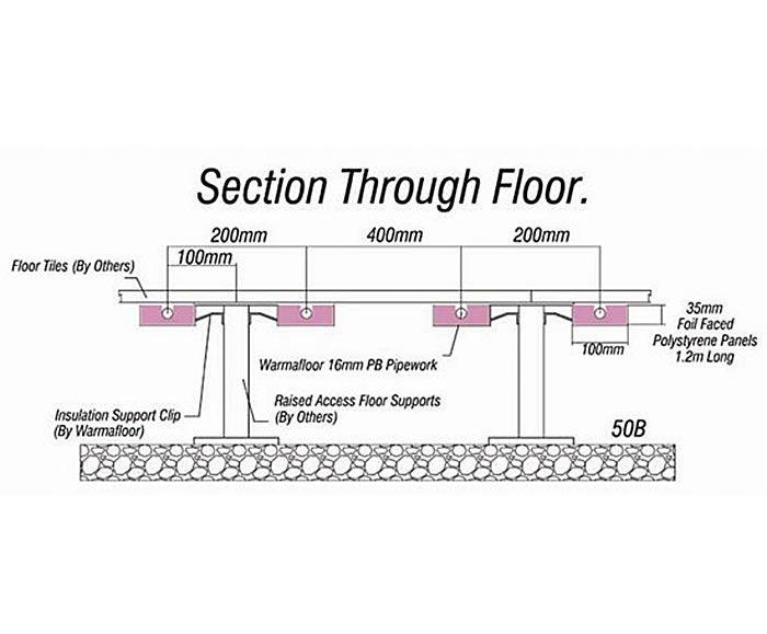 Floor Elevation False : Warmafloor underfloor heating raised access floors of