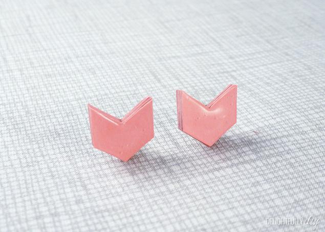 Delightfully DIY: DIY Paper Arrow Earrings