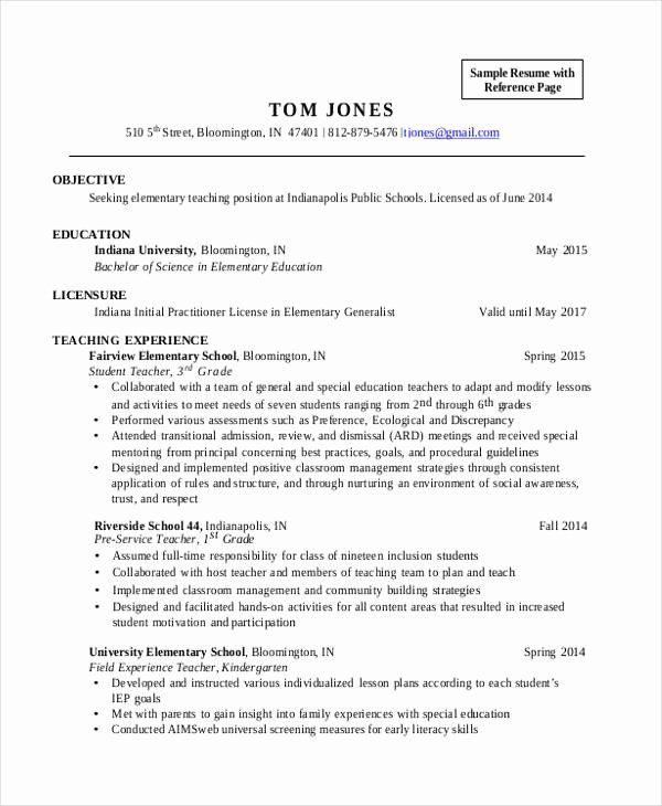 Resume Objectives For Teacher Elegant 28 Teacher Resume Templates Download In 2020 Teacher Resume Elementary Teacher Resume Education Resume
