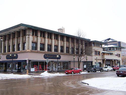 City National Bank And Hotel Frank Lloyd Wright 1909 Mason Iowa