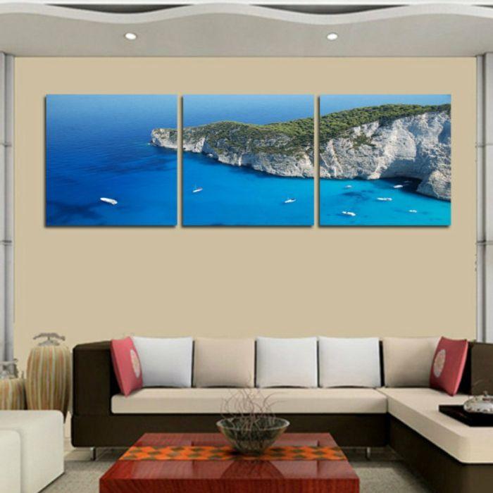 Unterwasserwelt Wandgestaltung im Wohnzimmer Pinterest