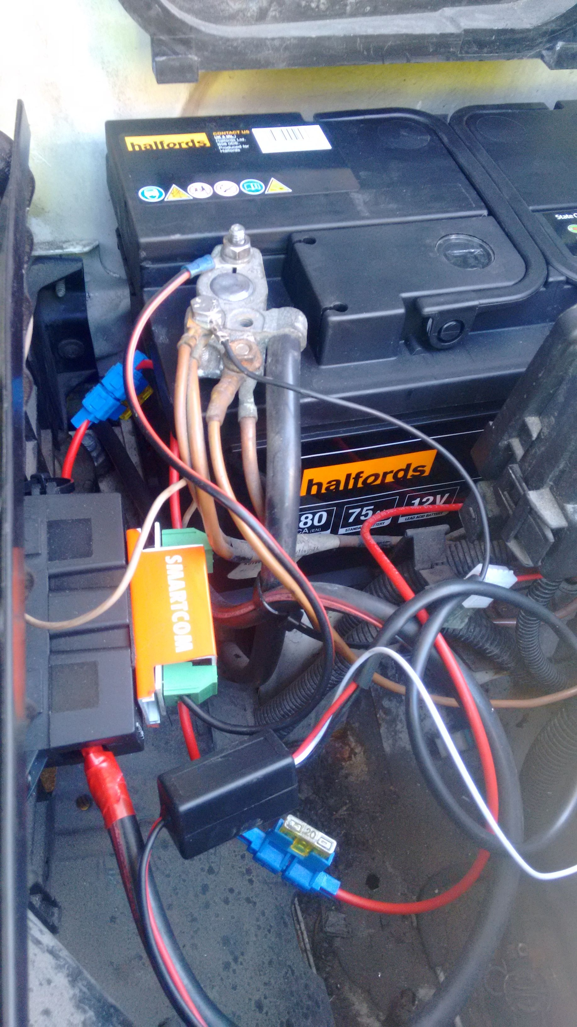 Had To Get A New Battery Despite Wiring Up The Smartcom Split Charging Unit The Battery Was Still Weak I Also Wired In A Drl Black Box Switches The Unit