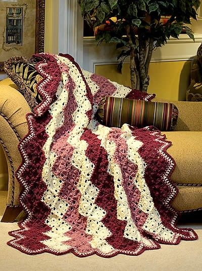 Sophisticated Zigzag Crochet Pattern By Mariatgers Warm And
