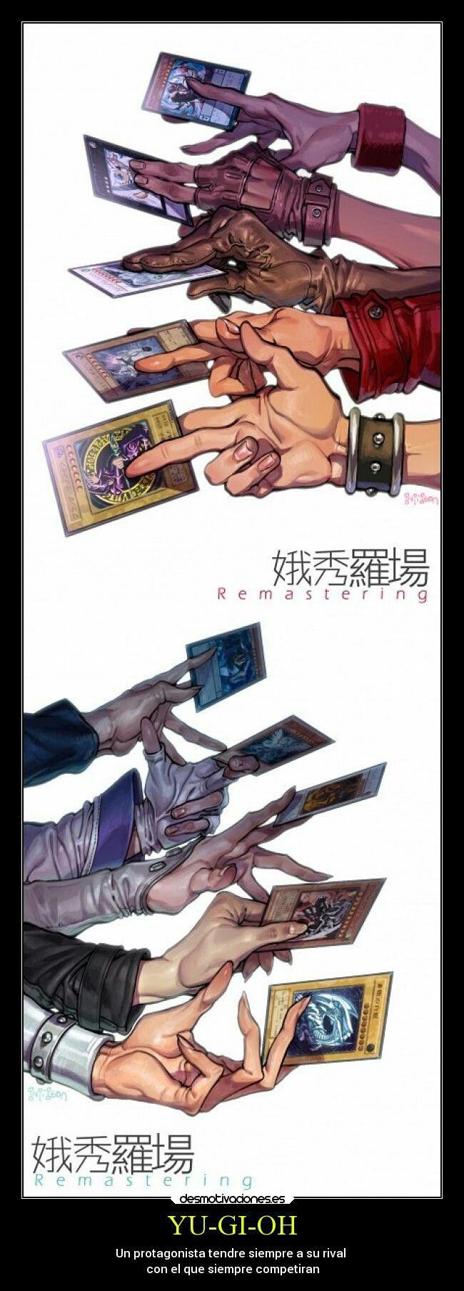 Yu gi ho: un protagonista siempre tendra un rival con rñ que conpetira siempre