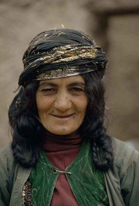 Portrait of a Kurdish woman inVermahak. by James P. Blair