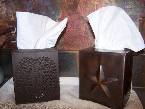 Decorative Tissue Box Holder Tissue Box Holder  Decorative Tissue Box Cover  Rustic Brown