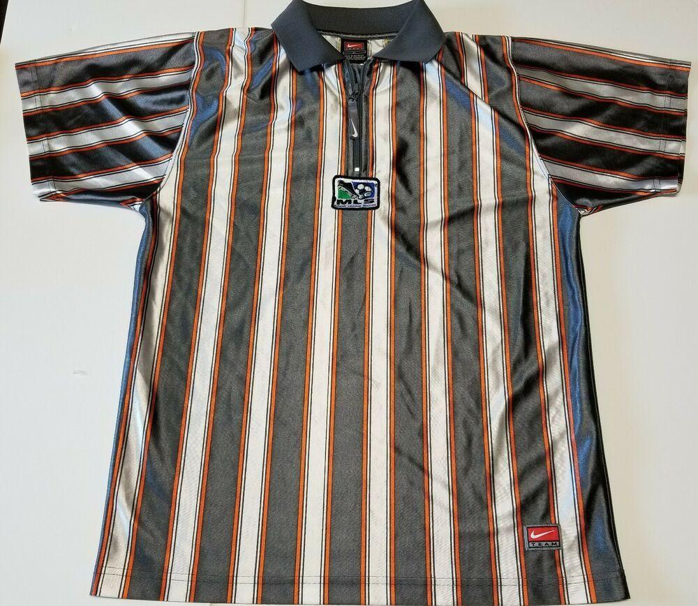 Vintage Nike Team Mls Soccer Jersey Half Zip Polo Shirt Youth Xl 20 Men Small Nike Unknown Vintage Nike Fan Apparel Mls Soccer