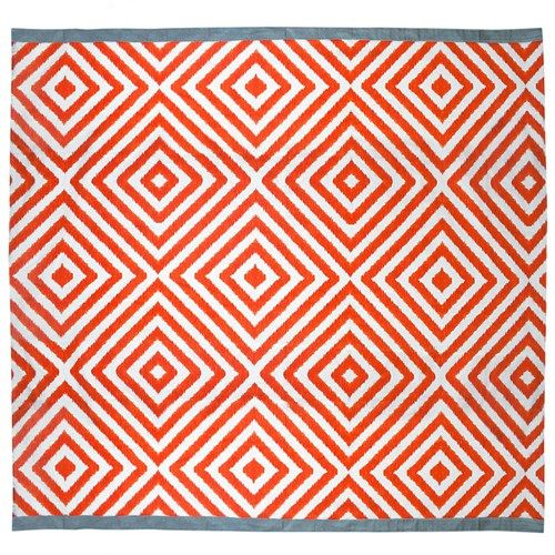 Jonathan Adler Arcade Orange Grey Shower Curtain Gray Shower