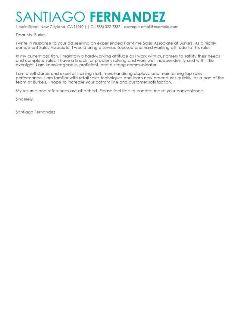 sample sales associate cover letter