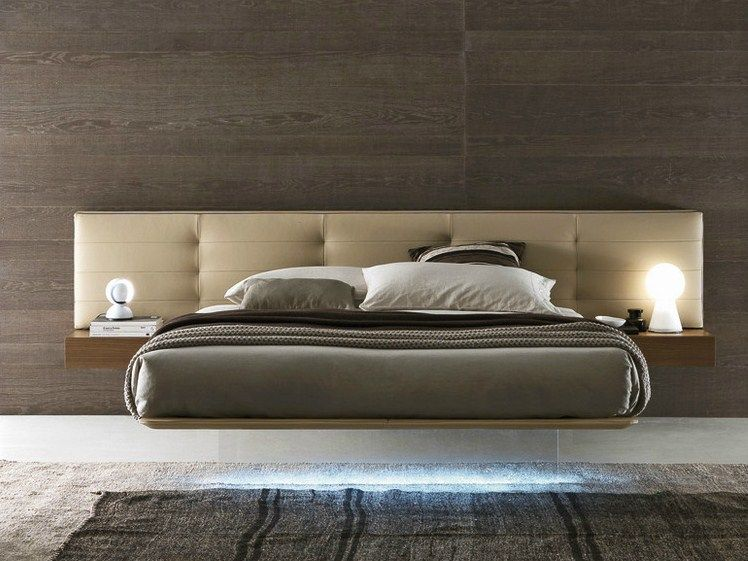 Wing system lit avec t te capitonn e by presotto industrie for Minimal home mobili