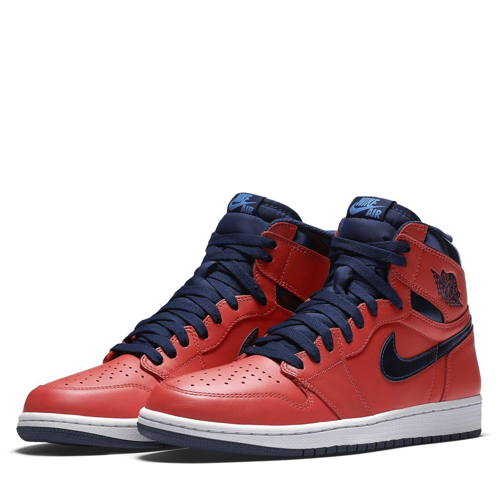 df698f261d86 Air Jordan Retro High OG-Letterman Light Crimson Midnight Navy University  Blue White
