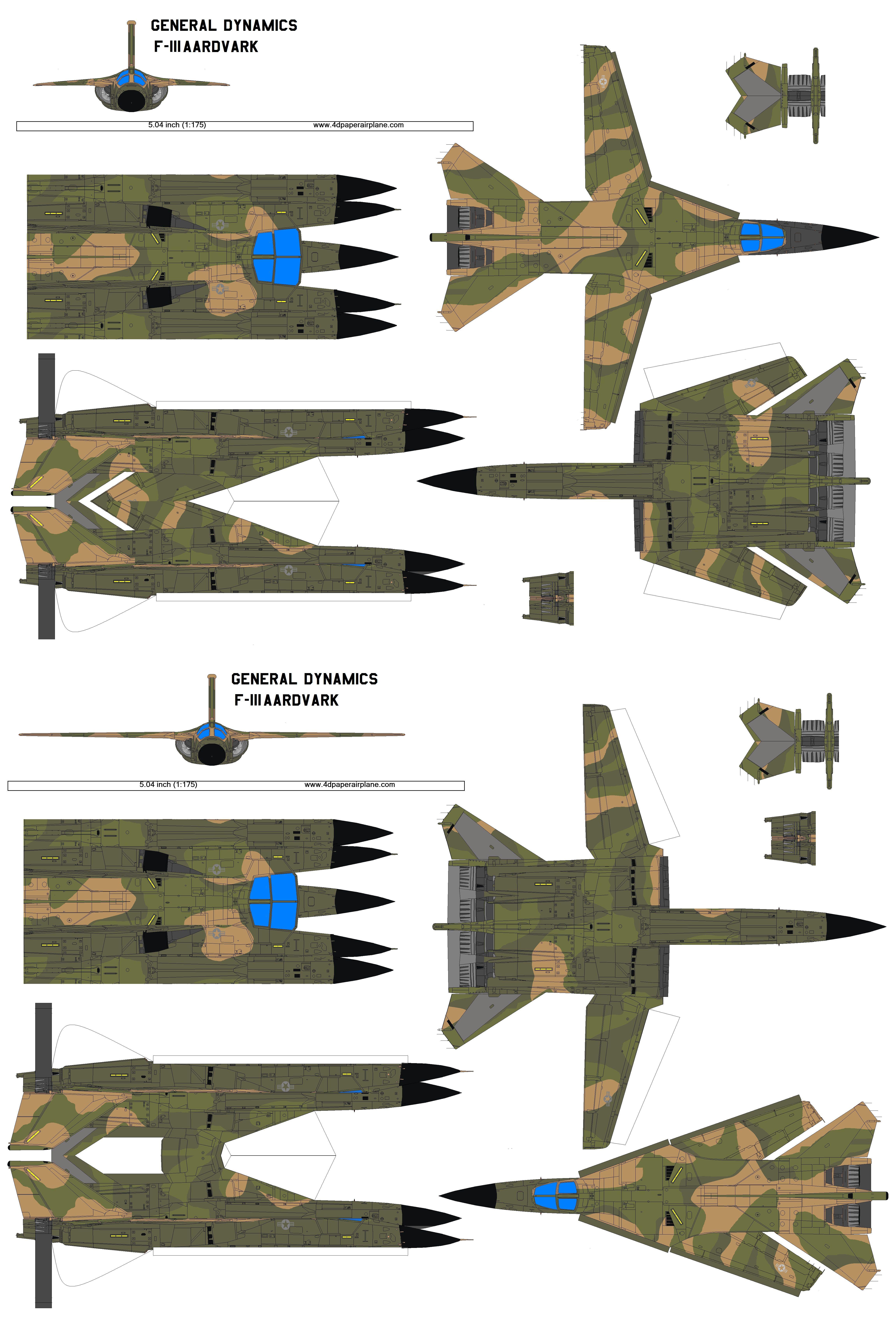 4D Model Template Of General Dynamics F 111 Aardverk 2 4dpa F111Aardverk