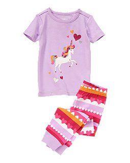 Sparkle Unicorn Two-Piece Pajama Set   Shops, Pajamas and Pajama set