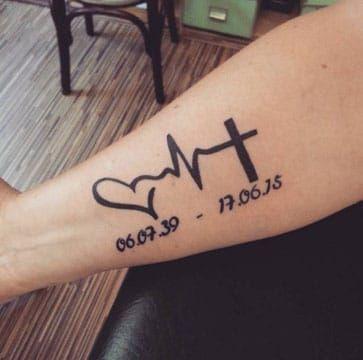 Tatuajes Dedicados A Abuelos Y De Honor A Un Fallecido Tatuajes