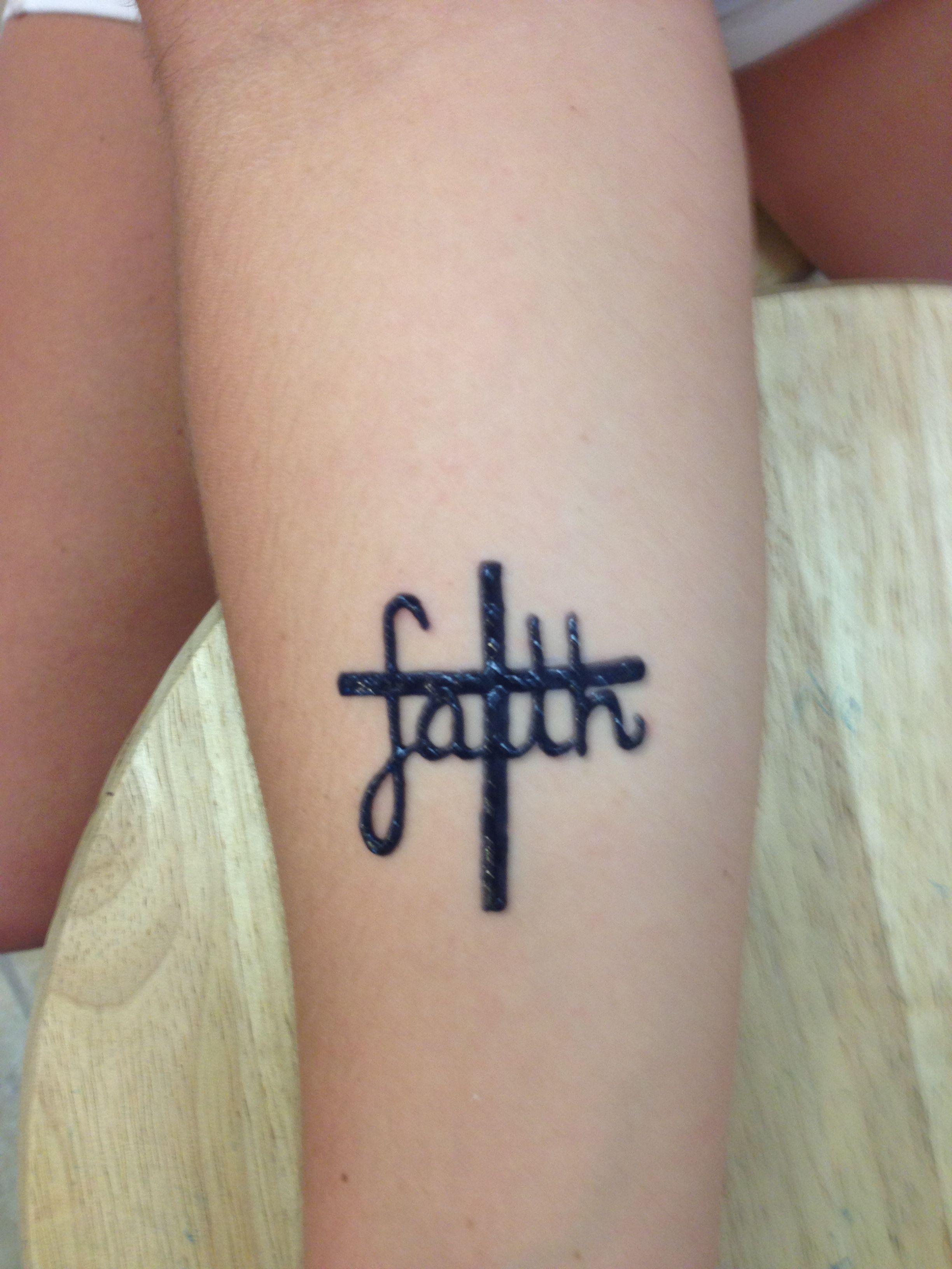 Faith and cross intertwined henna tattoo henna for Faith cross tattoos