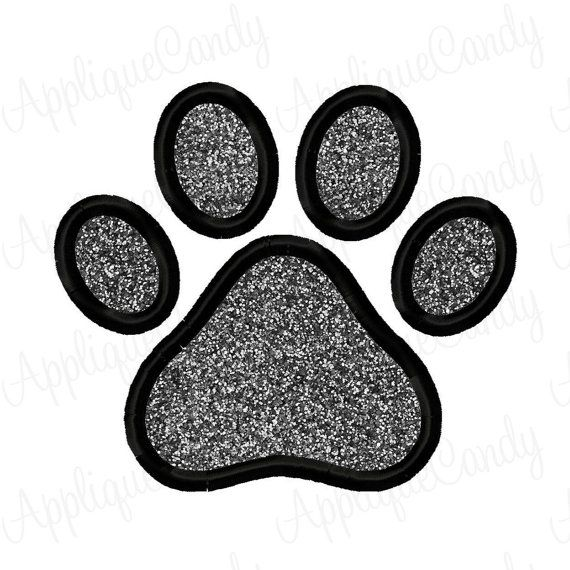 Paw Print Applique Stickerei Design 3 x 3 4 x 4 5 x 7 6 x 10 sofort-DOWNLOAD