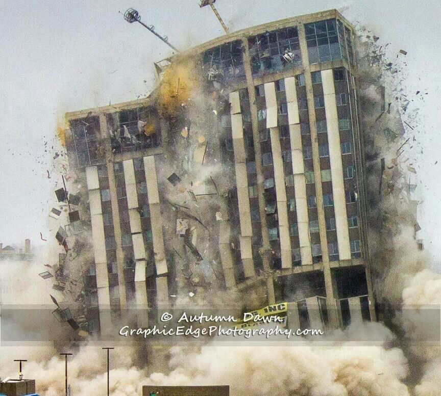 Abandoned Places In Battle Creek Michigan: Implosion Of Genesee Towers, Flint MI. 12-22-2013