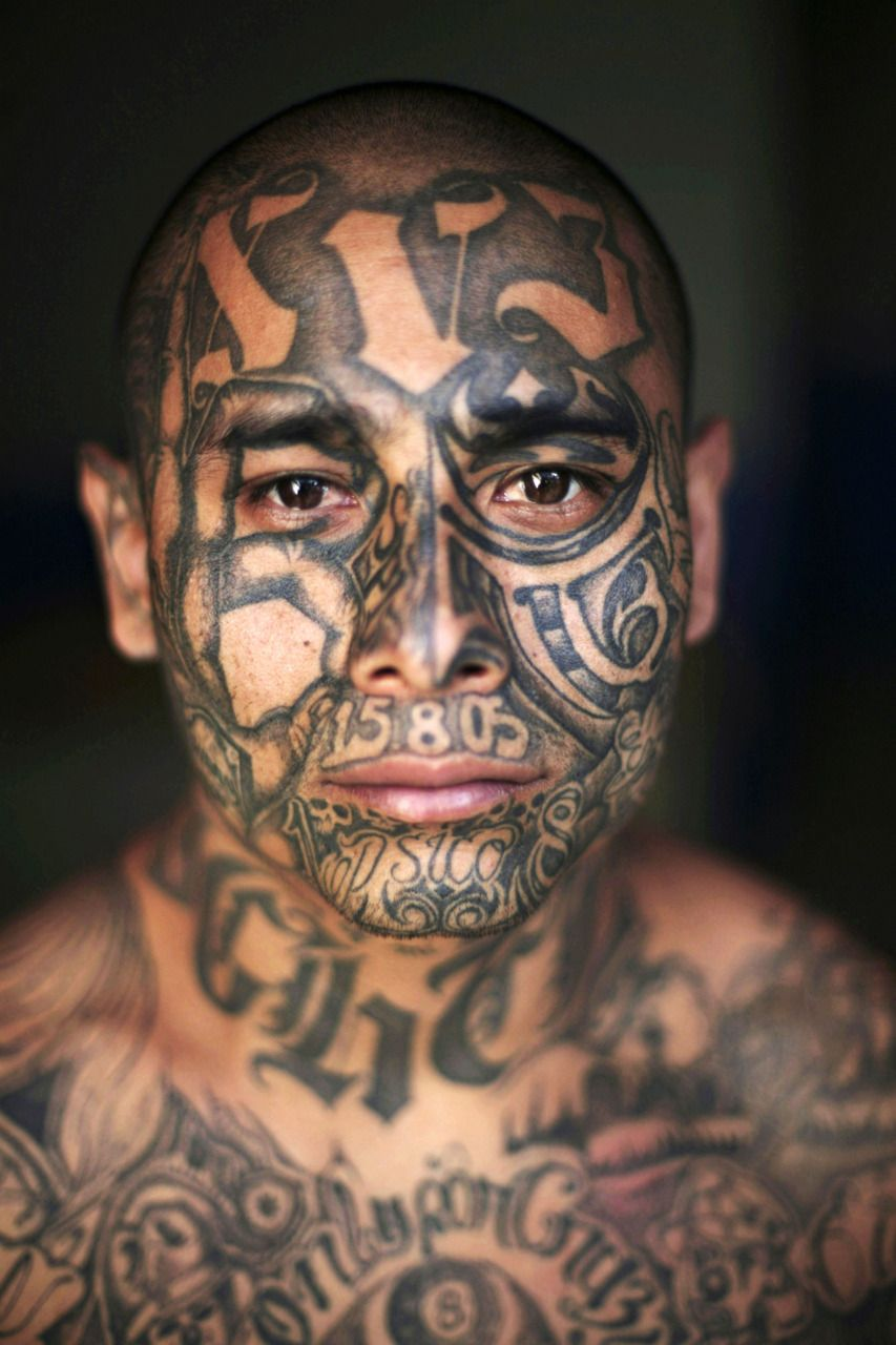 Face tattoos designs and ideas page 7 - These Are Gang Tattoos Of Inmates In South America Prisons The Ornately Tattooed Mara Salvatrucha And The Street Gang Members Are Many