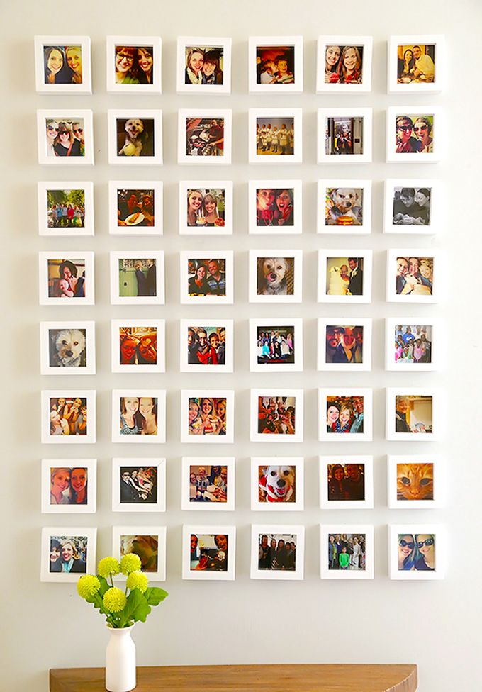 idea-deco-fotos-pared-album-chispum-muacs | dye ideas in 2018 ...