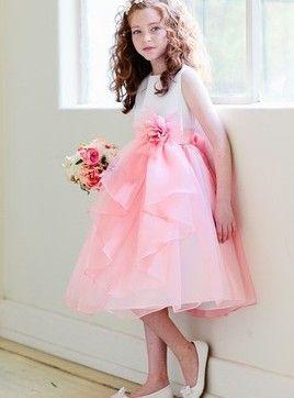 Vestido de daminha Romântico Princesa Império Cetim Elástico