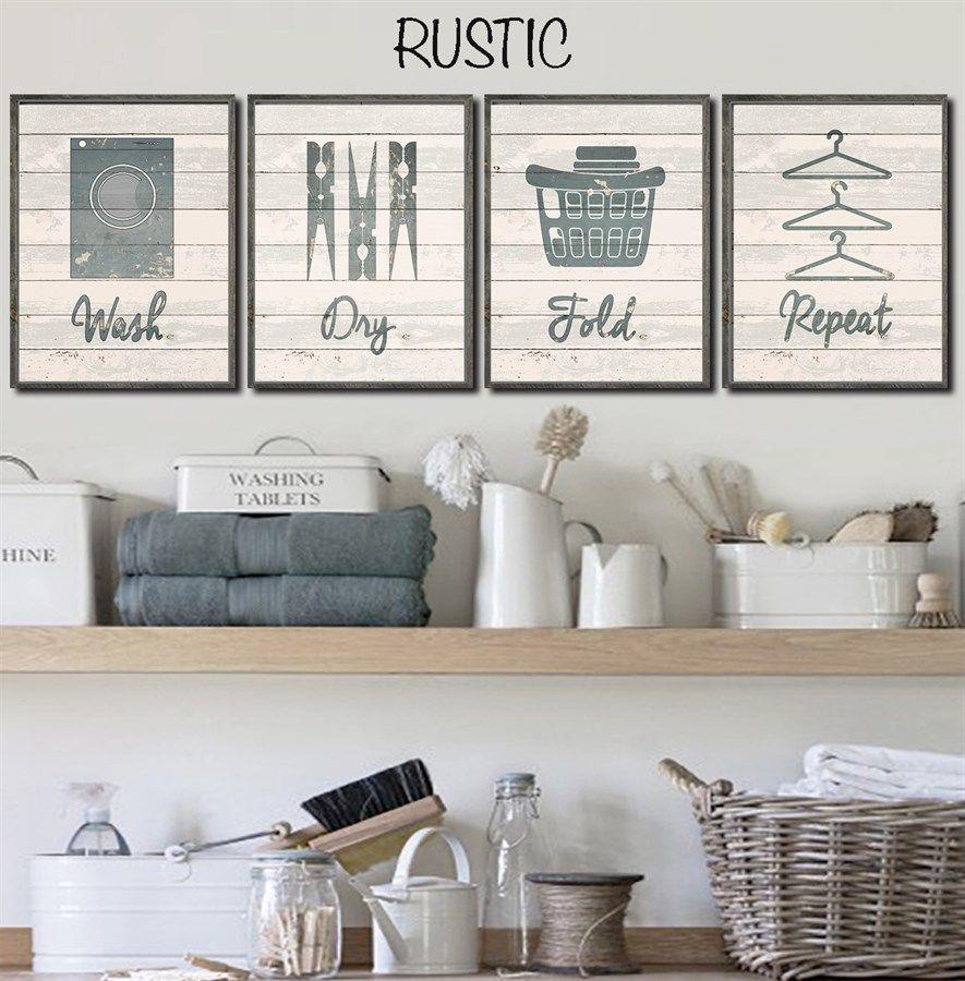 Set of lovify your laundry laundry laundry rooms and handmade