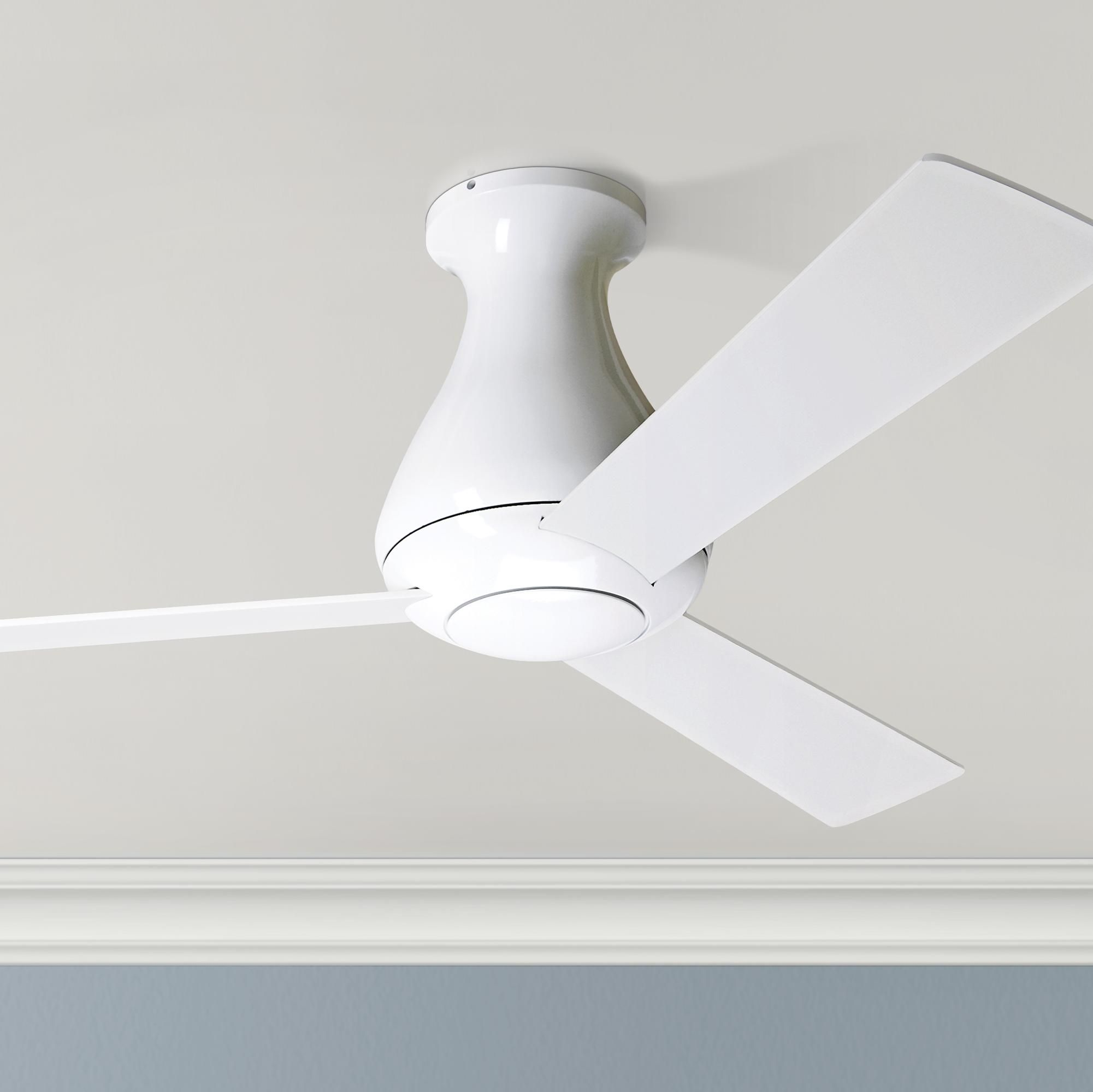 ceiling fans 42 modern fan altus gloss white flush mount in 2020 without lights master bedroom