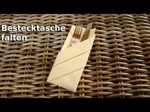Bestecktasche Falten servietten falten bestecktasche falten einfache tischdeko z b