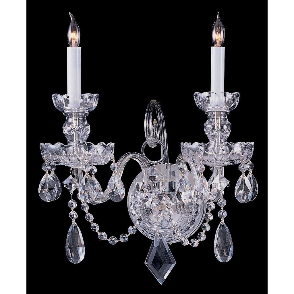 Crystorama traditional crystal collection 2 light polished chrome crystorama traditional crystal collection 2 light polished chromeswarovski strass crystal wall sconce amipublicfo Gallery