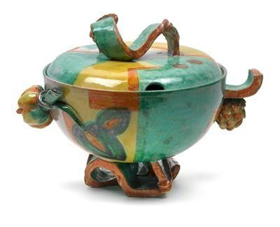 Vally Wieselthier, punch bowl, draft 1928 by the Wiener Werkstaette, ceramic