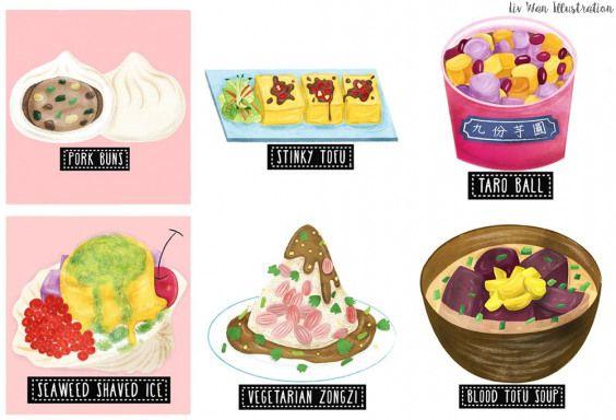 Taiwan Street Food Map Illustration on Behance