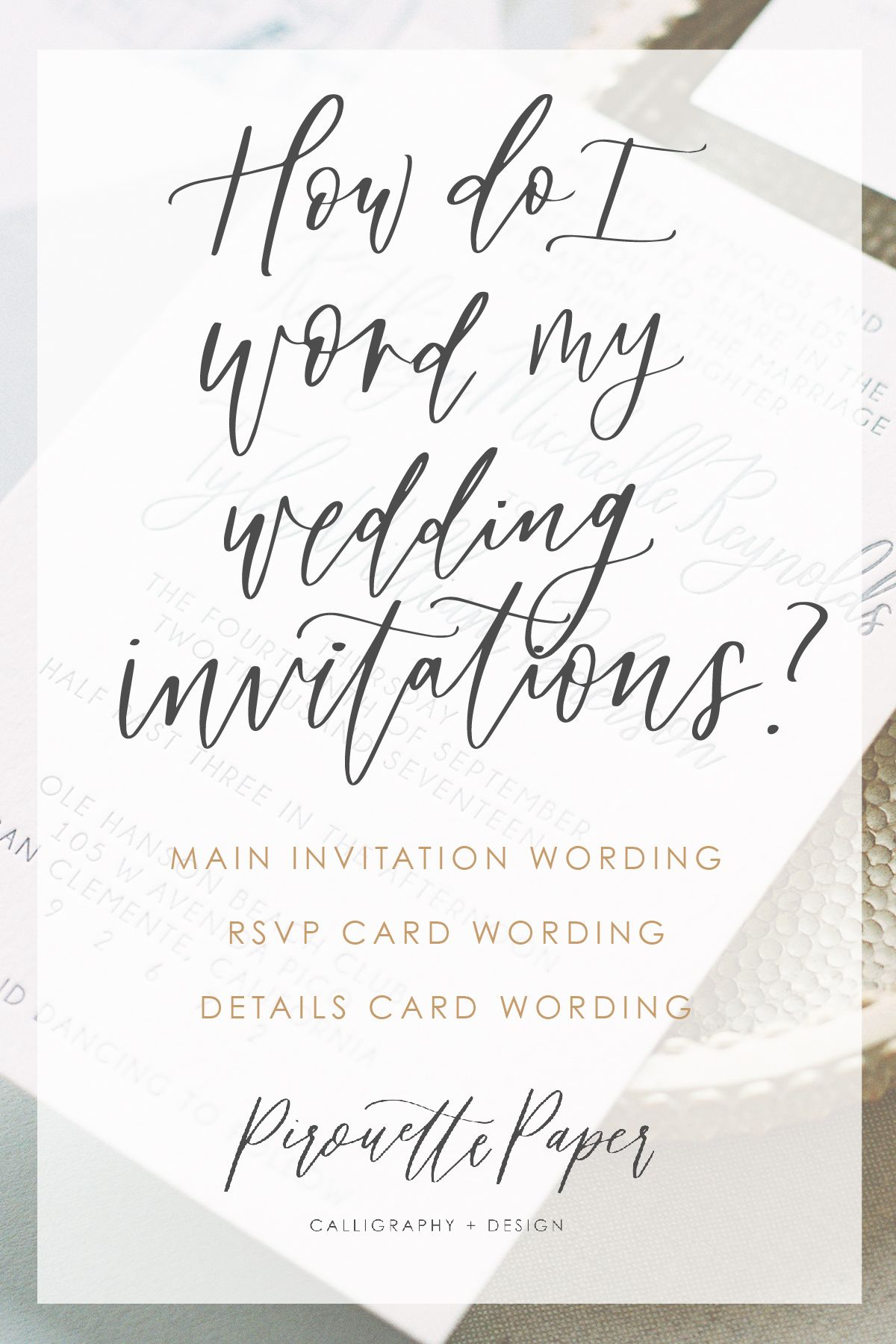 Wording Your Invitations Wedding Details Card