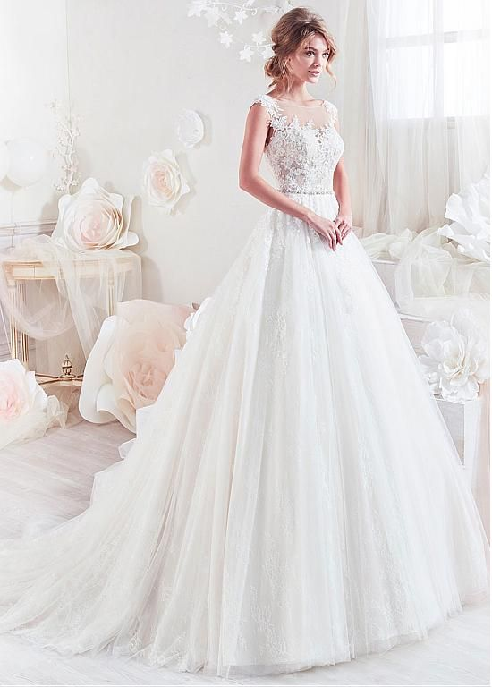 4188f952497 Attractive Tulle   Lace Scoop Neckline A-Line Wedding Dresses With Lace  Appliques   Beadings