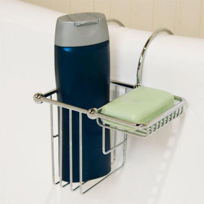 Over The Rim Shampoo Bottle And Soap Basket Bathtub Accessories