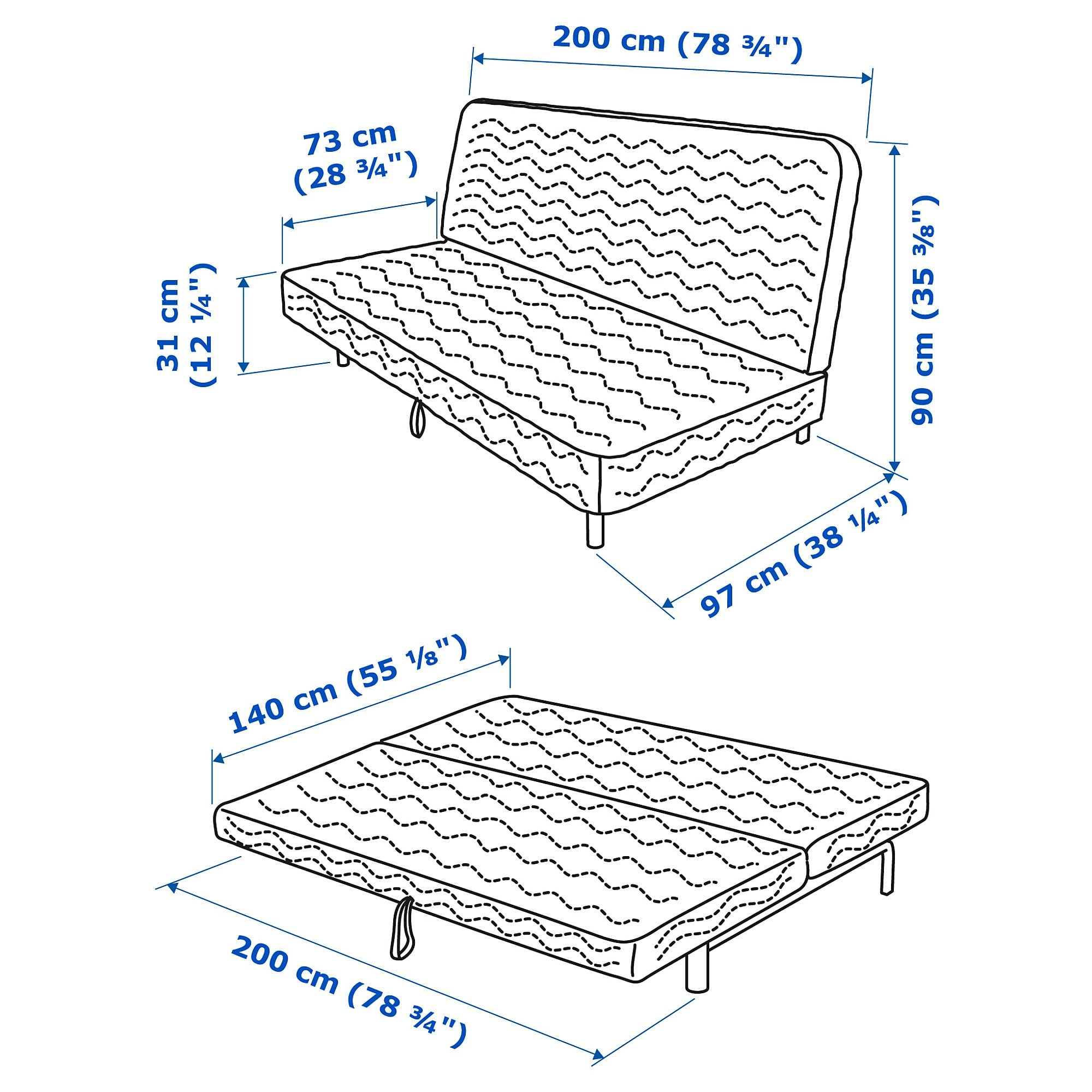 Pong Fauteuil Ikea.Ikea Nyhamn Futon With Foam Mattress Knisa Gray Beige
