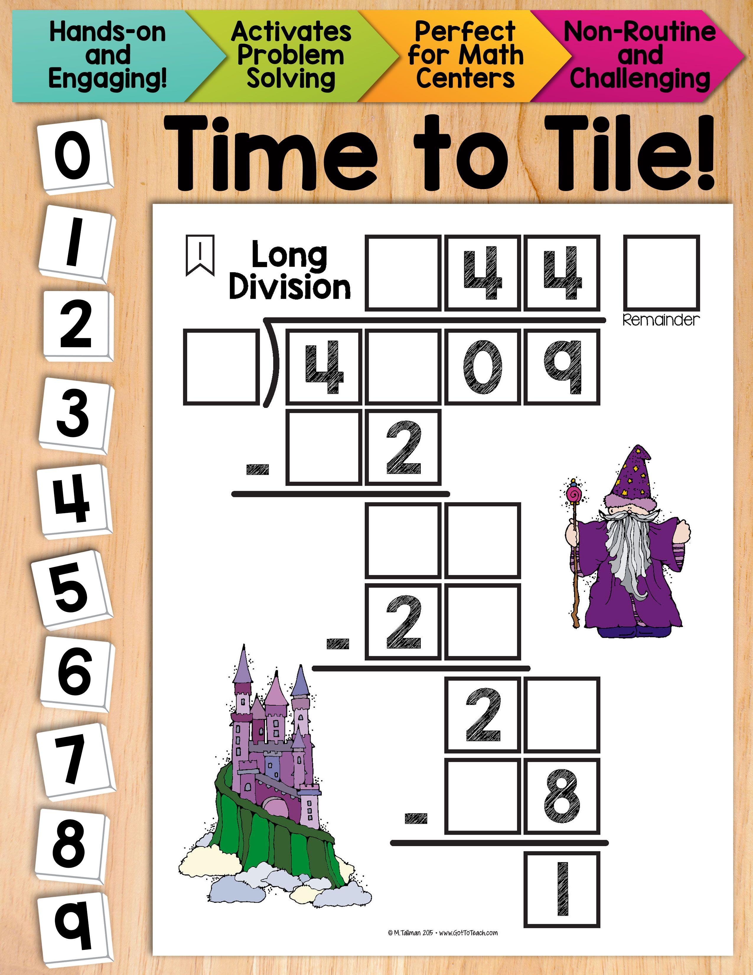 Math Tiles Long Division Math Centers