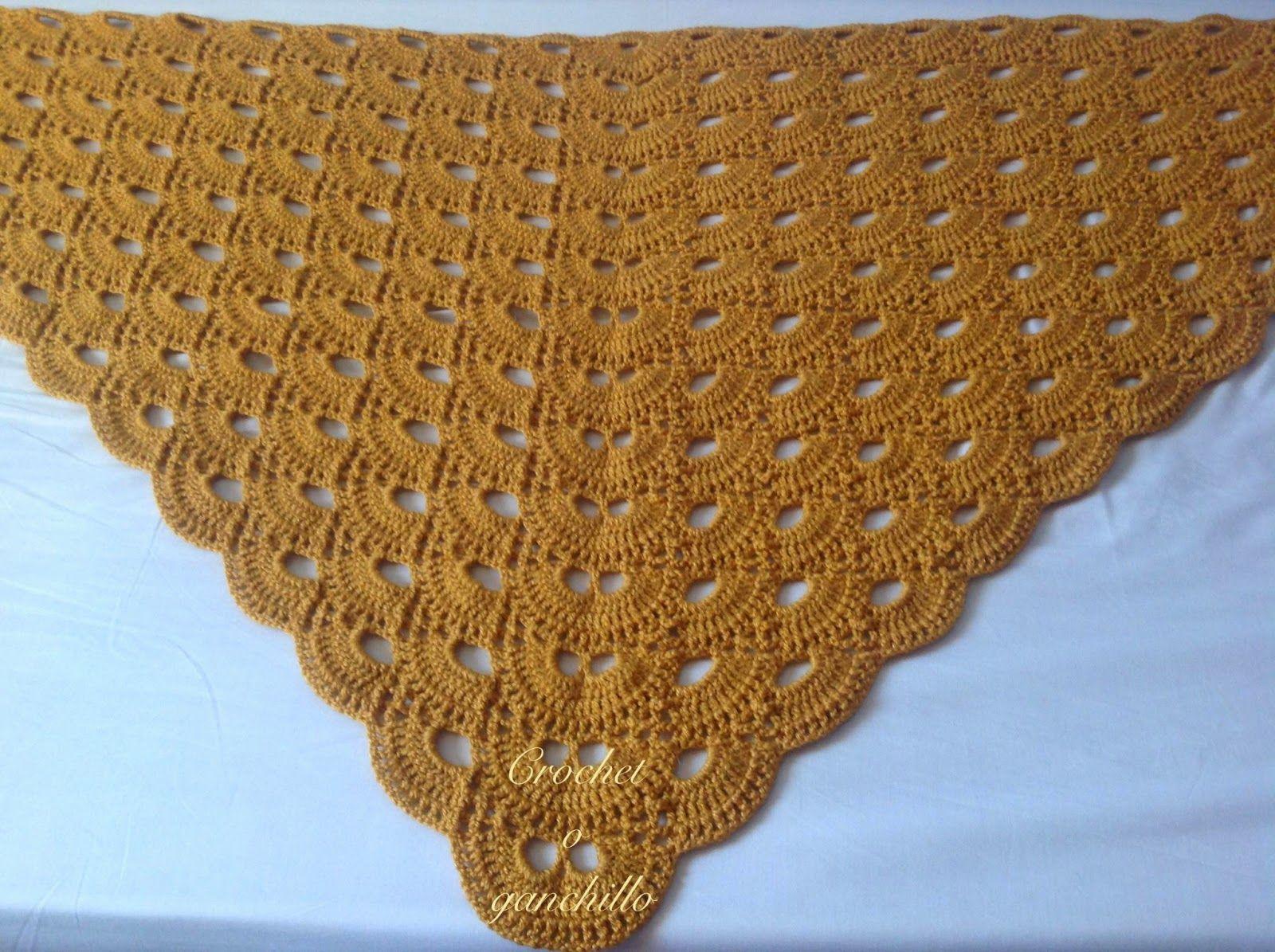 Crochet o ganchillo: MANTILLA A GANCHILLO | ganchillo ideas ...