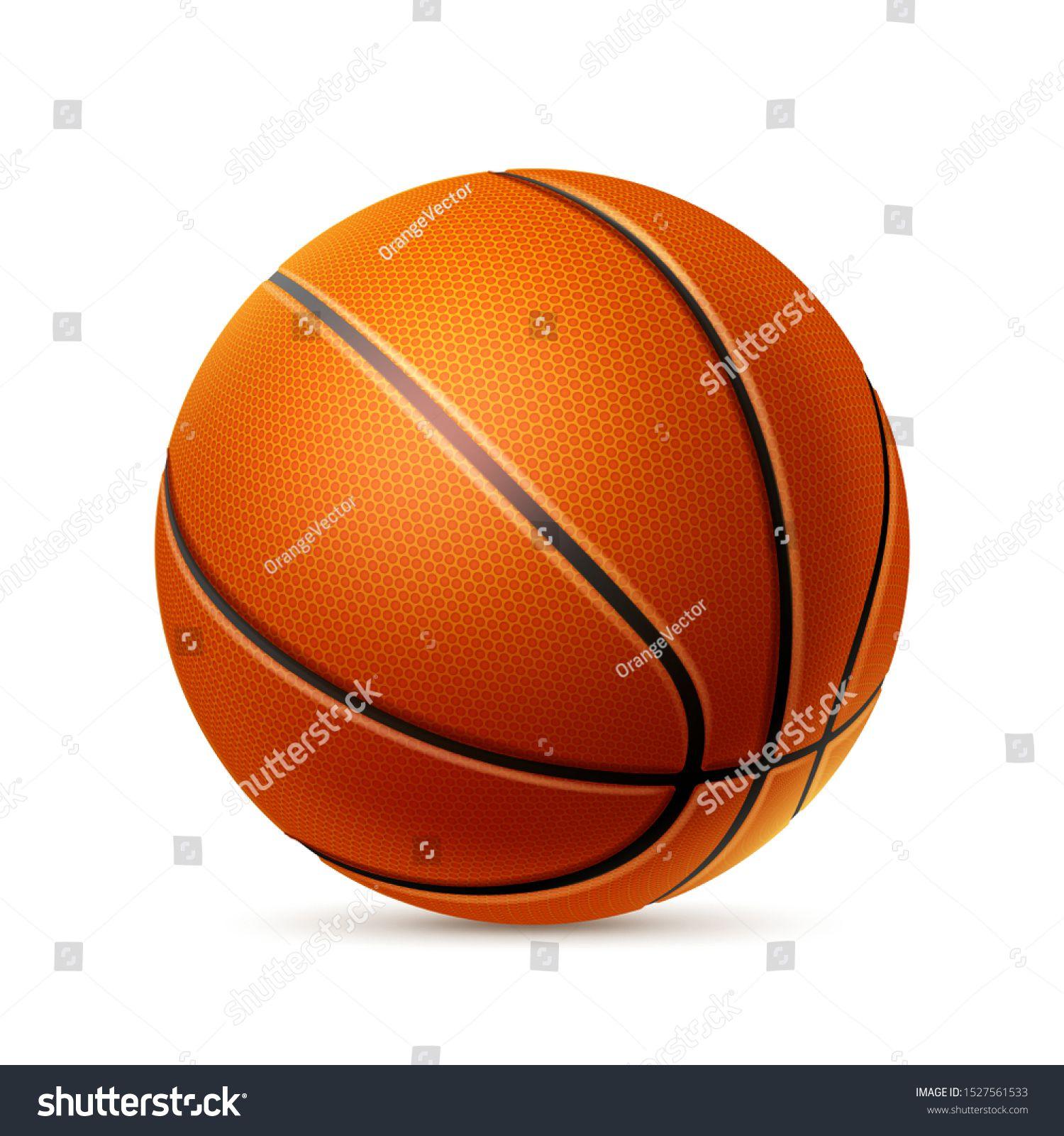 realistic basketball ball athletic equipment decoration