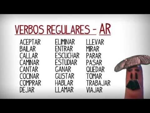 Liste Des Verbes Reguliers Et Irreguliers En Espagnol Les Plus Utilisees En Youtube Espagnol Apprendre Mots Espagnols Espagnol