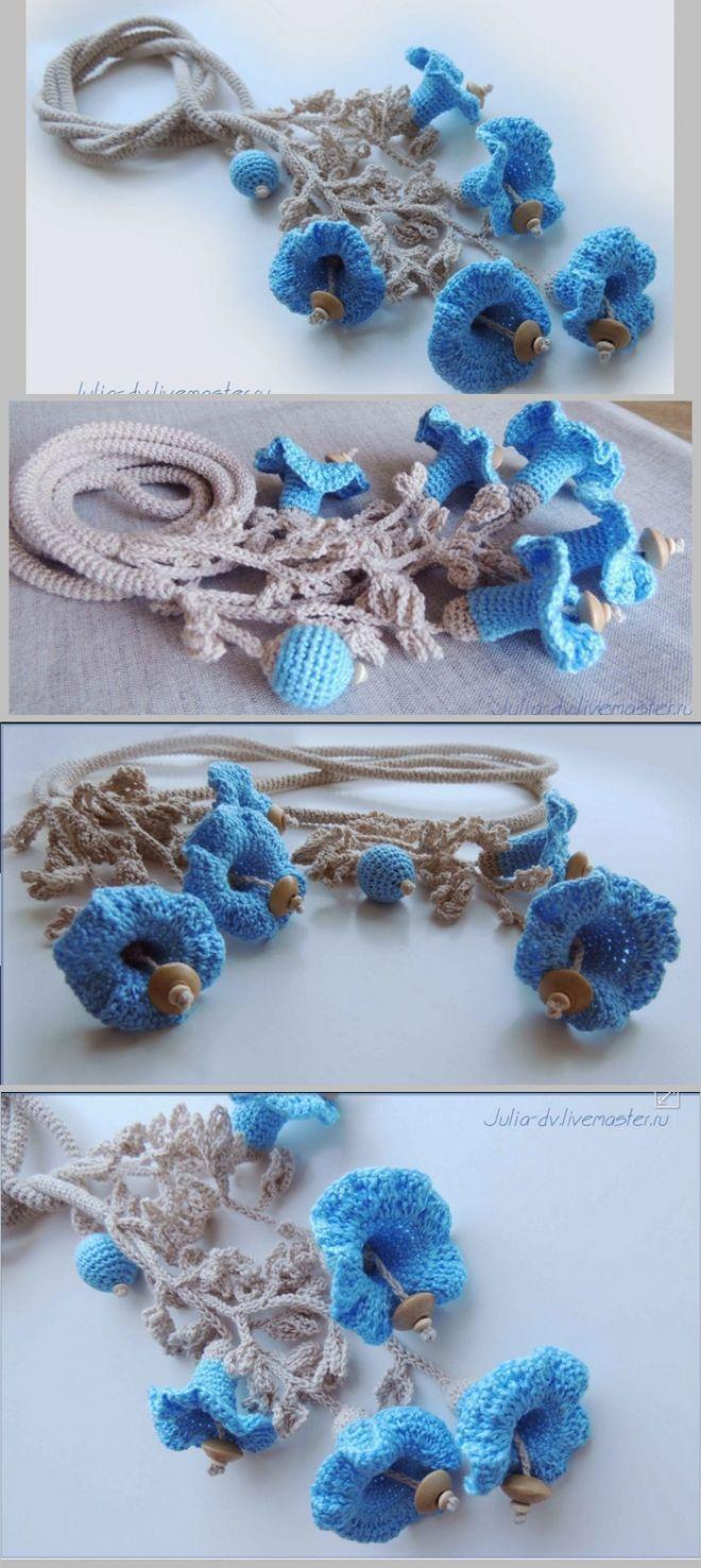 Украшения крючком | Sube, Collares de crochet y Collares