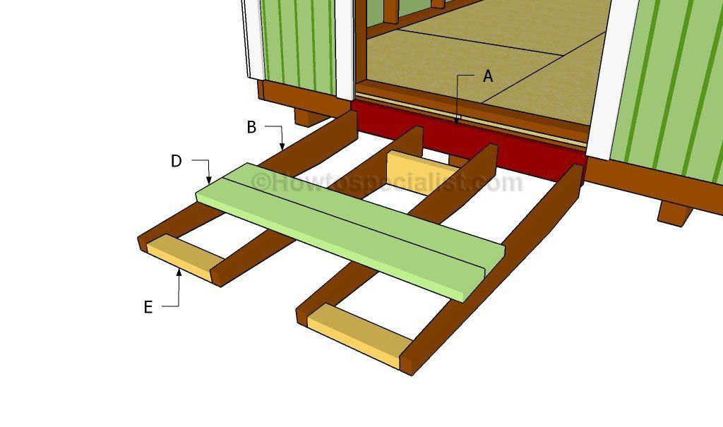 How to build a shed ramp Shed ramp, Building a shed, Diy