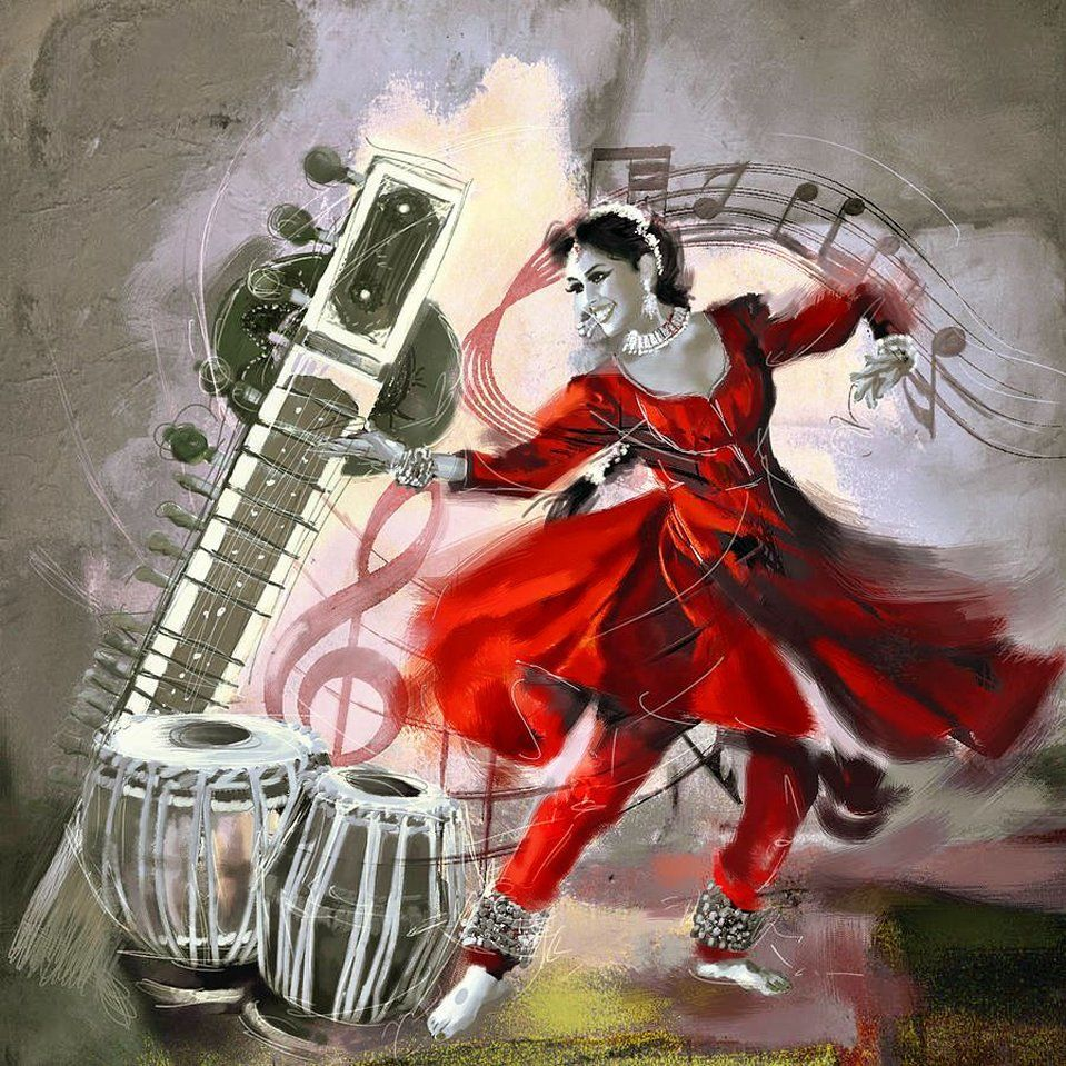 Brilliant, soulful Indian Classical Dance: #Kathak   Culture ... for Abstract Painting Of Indian Dancers  242xkb