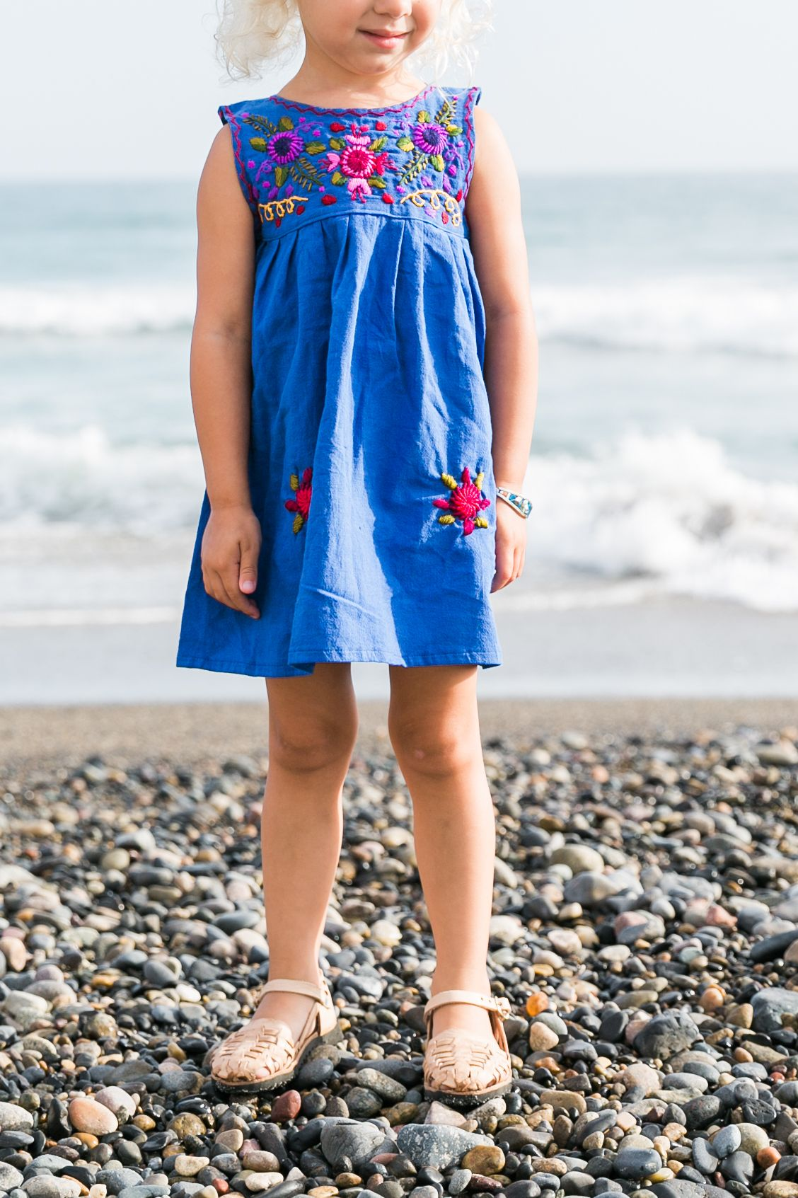 52e3c7a1a Flores Baby Dress-Azul // Children's Huaraches Sandals www.humblehilo.com