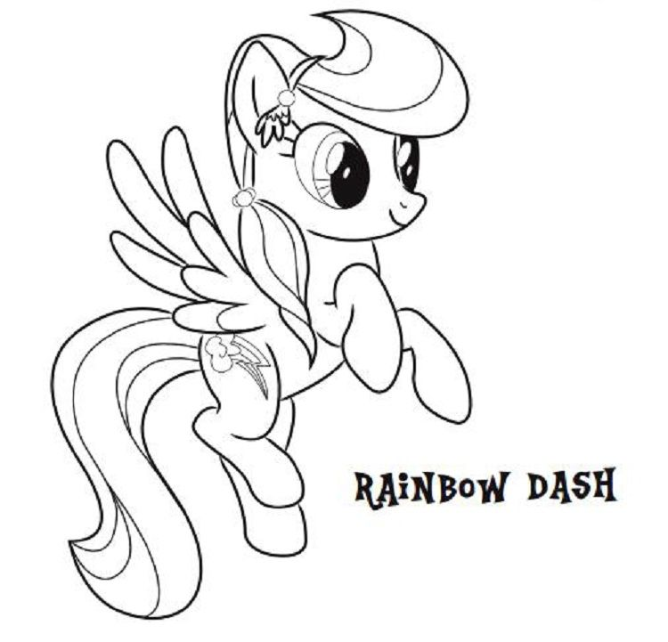 my little pony rainbow dash coloring pages games | Coloring Pages ...