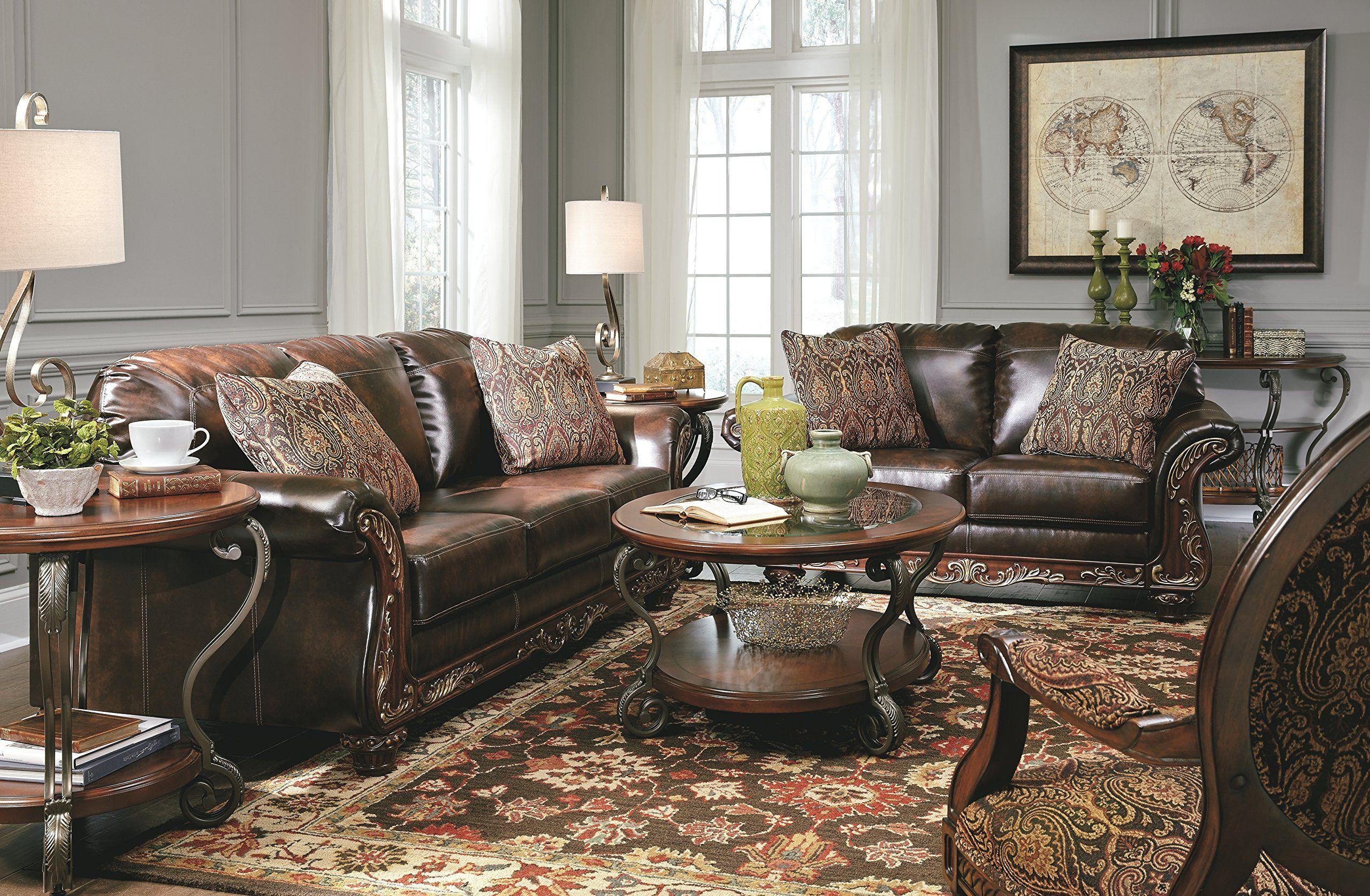 Ashley Furniture Signature Design Vanceton Loveseat Ornate