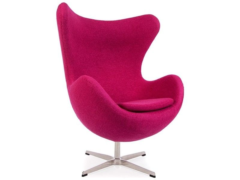 Pink Wool Funky Replica Retro Jacobsen Egg Armchair Egg Chairs