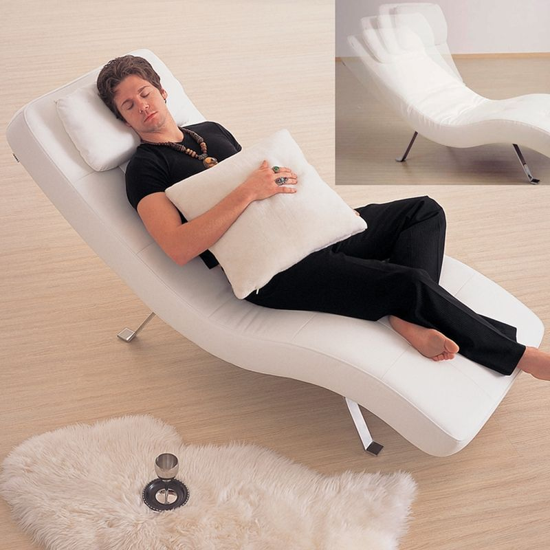 Relaxing Chair Leatherette Futon Bed