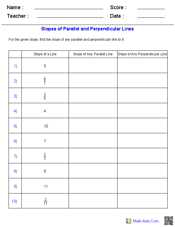 Slopes Of Parallel And Perpendicular Lines Worksheet Answers : slopes, parallel, perpendicular, lines, worksheet, answers, Geometry, Worksheets, Parallel, Perpendicular, Lines, Lines,, Worksheets,, School, Algebra