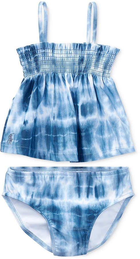5649cd462529c Polo Ralph Lauren Tie-Dye 2-Pc. Swimsuit, Baby Girls | polo ...