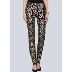 Alba Moda, Skinny-Jeans und goldfarbiger Beschichtung, schwarz Alba Moda