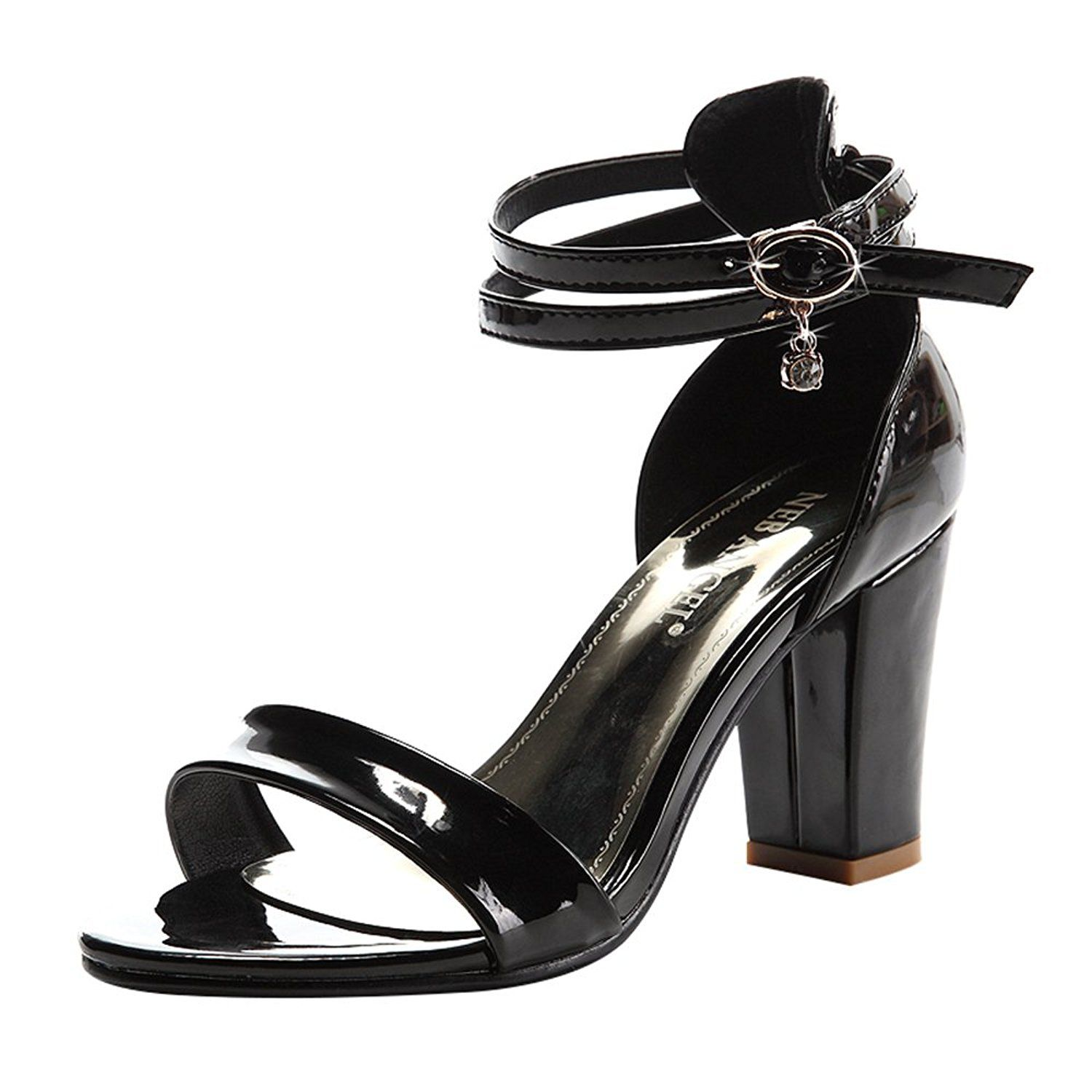 2947b908481 TandGrade Women Fashion Breathable Open Toe Double Belt Comfortable Chunky  Mid Heel Sandals     Read more at the image link.